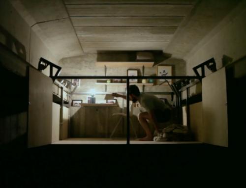 Fernando Abellanas hangs secret studio under a bridge in Valencia